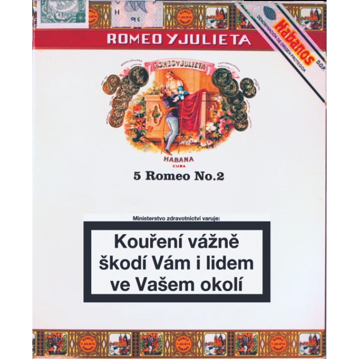 Romeo & Julieta No.2 Tubos 5ks