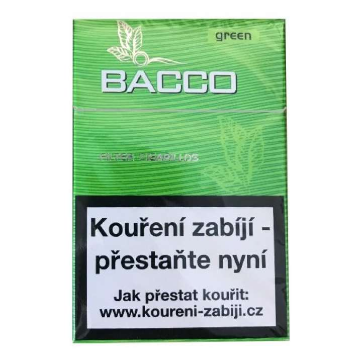 Bacco Filter Cigarillos Green 17ks