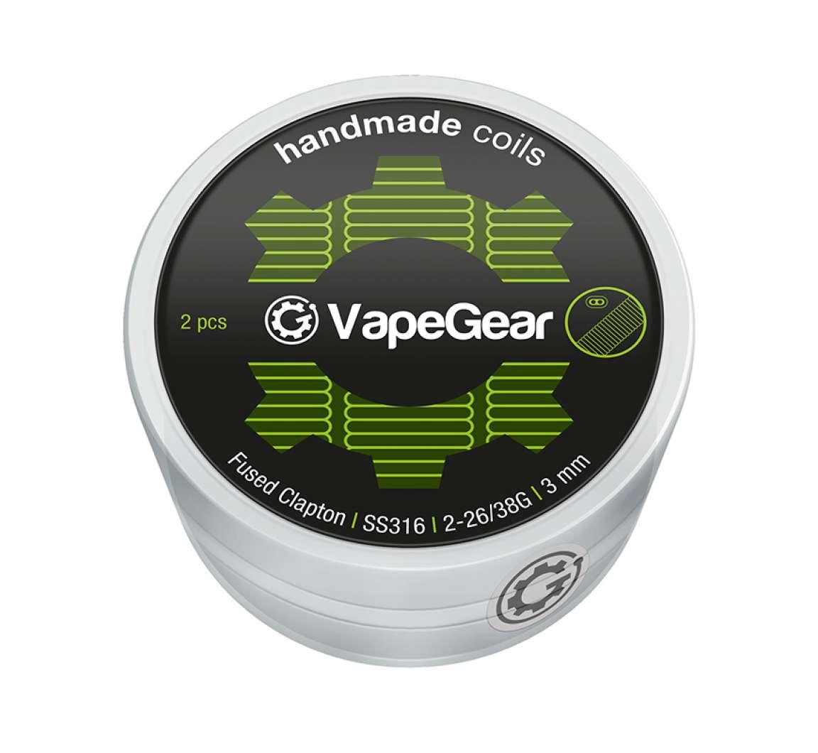 VapeGear Handmade Coils - Fused Clapton, SS316, 2ks - 2-26/38G, 3mm