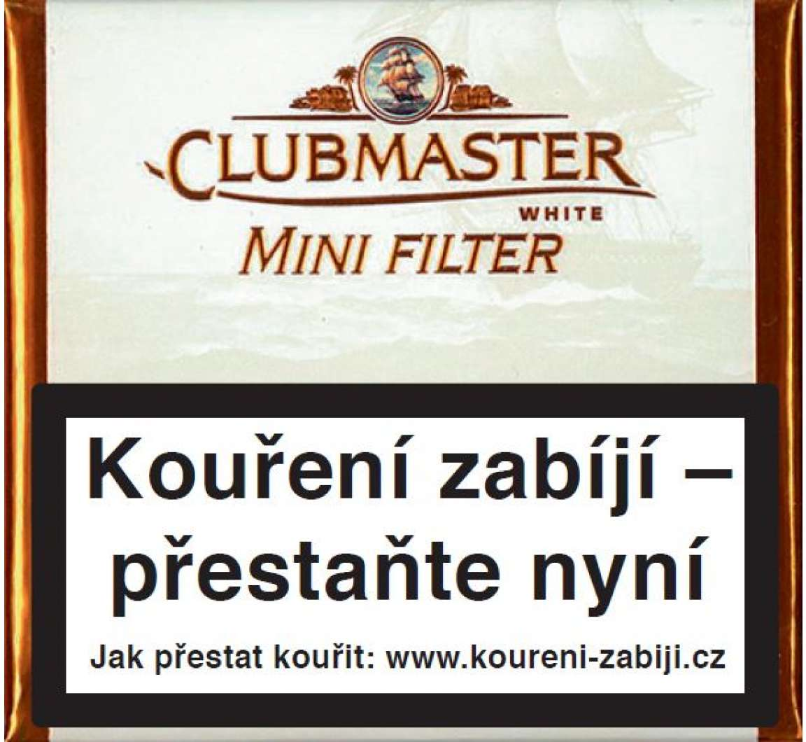 Clubmaster Mini White Filter 20ks
